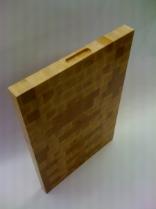 maple end grain butcher block