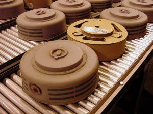 landmines at a factory