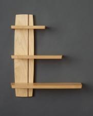 Offset Shelf, Maple and Walnut, 2016