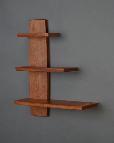 Offset Shelf, Sapele, 2016