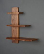 Offset Shelf, Walnut, 2016