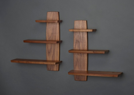 Offset Shelf, Walnut, 2016
